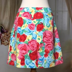 Talbots Skirts - Talbots A-line Rose Pattern Skirt